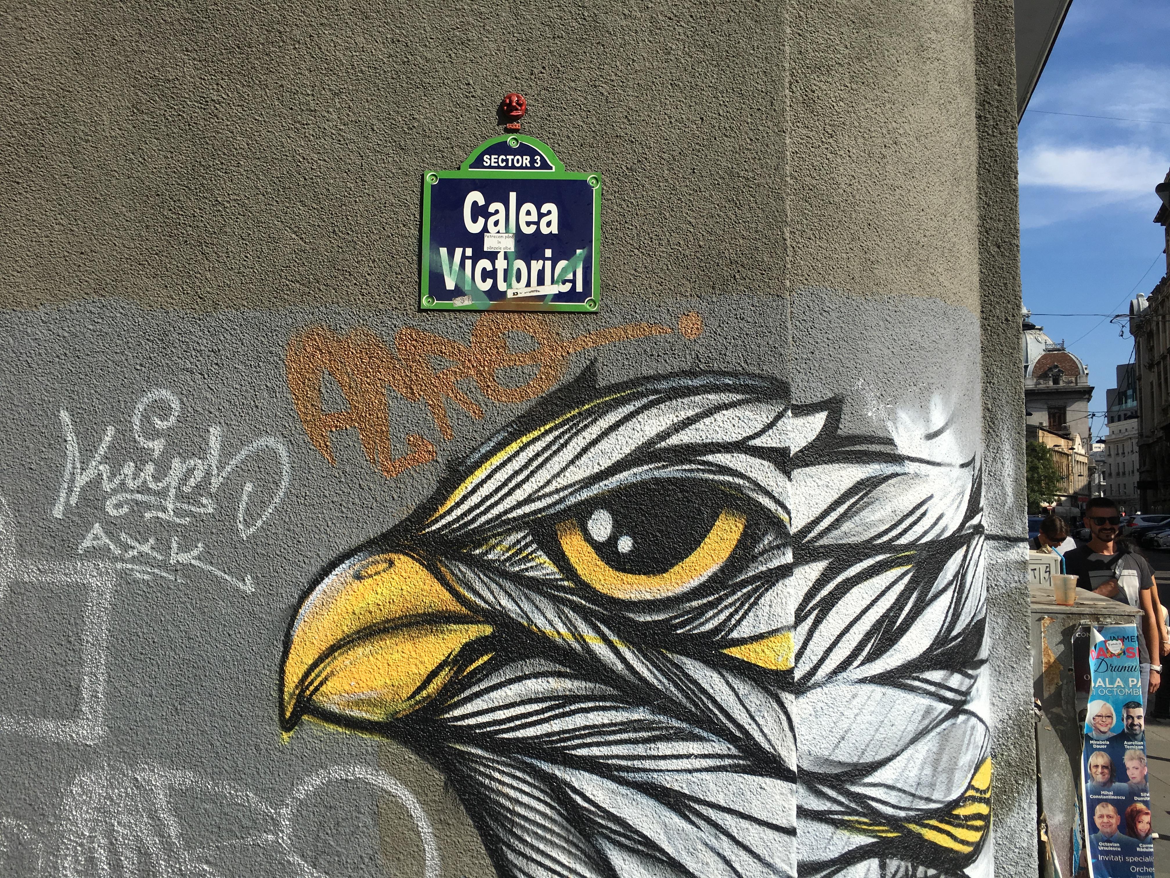 J.Ace street art Bucharest Calea Victoriei CAPITOL 6